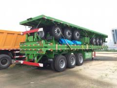 Panda 3 axle 40ft flatbed semi trailer for sale