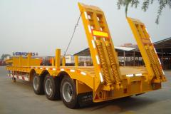 3 Axle Lowbed/Lowboy Truck Semi Trailer for Sale(Axle/Size Optional)