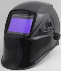 Large view area solar powered welding mask