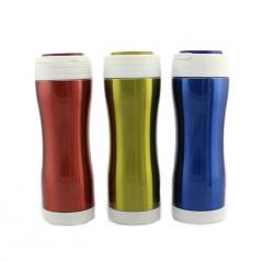 ZC-CF-G SUS304/316/201 double vacuum insulation cold copper silicone waist, bottom sleeve stainless steel multi-function security harmless coffe mug 420ml Car Cup
