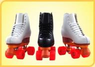 溜冰场双排出租用鞋黑色1