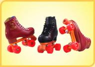 Chaussures sur les roulettes
