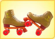 溜冰场双排出租用鞋米色