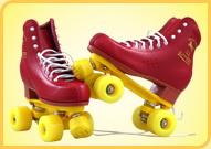 溜冰场双排出租用鞋红色