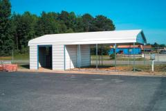 Carport with Storage Shed