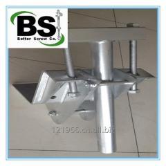New Construction Steel Underpininning Helical Brackets
