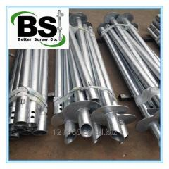 Hot dipped galvanized round lead helical anchor