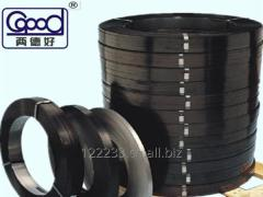 Colored steel strapping