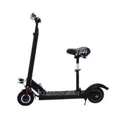 Folding electric kick scooter with seat and LCD