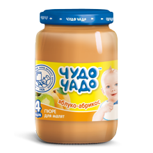 Apple-apricot puree with sugar Chudo-chado 0,170 l