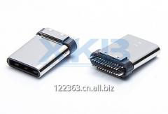 Type-c male head usb 3.1 connector