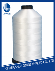 High strength polyester sewing thread