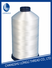 Raw whiter polyester sewing thread for quilting machine