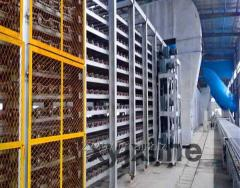 Gypsum board processing line