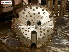 Drill bits for rotary drilling rig, DTH, large diameter, drilling for foundation construction, shank DHD1120, NUMA120, NUMA125