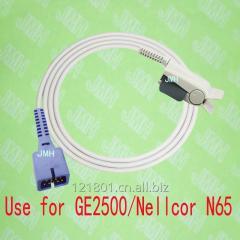 兼容GE 2500 and Nellcor N65病人脉搏血氧监护仪,DB9 成人指夹血氧探头。