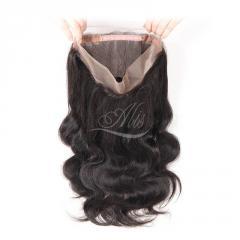 360 Closure Body Wave Brazilian Hair