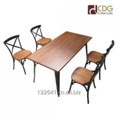 Rectangle Metal Frame Dining Table