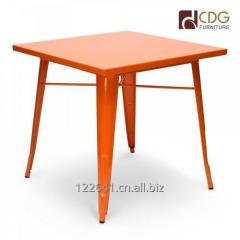Standard Metal top metal leg dining tables