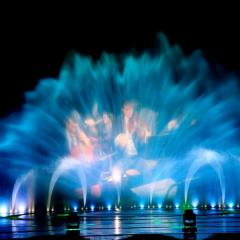 Government digital, air blast, fire music fountain project