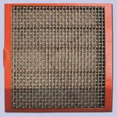 Сита для грохотов металлические плетеные в полиуретановой раме