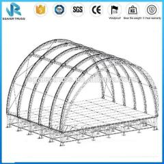 Big Curved Arched Aluminum Stage Roof Truss System for Exhibition and Event