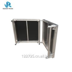 Metal Mobile Folding Platform with Anti-slip Surface for Carpet