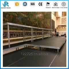 Aluminum Portable Stage with Waterproof Non-slip Surface and Height Adjustable Leg