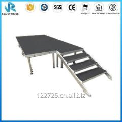 Adjustable Portable Stage Platform with Polywood board for Small Medium Large Event