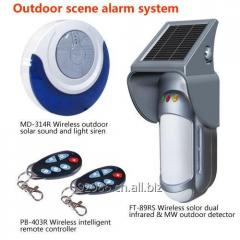 Residential Security Alarm of burglar fear detection system