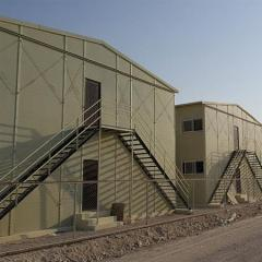 DOUBLE FLOORS PREFAB LABOR CAMP BUILDING IN GOOD HEAT INSULATION