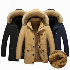 Men's coats winter warm jackets detachable plume hat outerwear for men clothing cheap wholesale