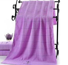140x70cm 100% cotton lavender bath towel