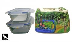 Toughened Glass Container Fresh Insulated Lunch