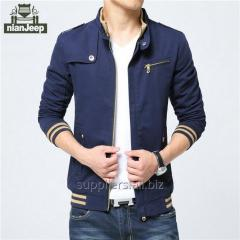 Men's clothing jacket teenager boy's coat cotton zip outerwear for men clothing nianjeep brand clothes cheap wholesale supplier