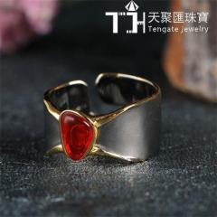 Handmade 925 sterling silver jewelry opal finger