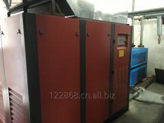 Direct air compressor with a screw, EZV-110A