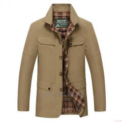 Outerwear for males of 100% cotton