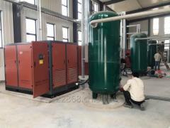 Oil compressors with direct drive rotary screw 110
