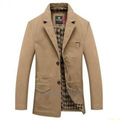 Male jacket of high quality material