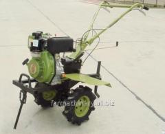 モチ栽培者。 モデル: 1WG-4 (with 178FS diesel engine)