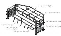 Crate for pig farm