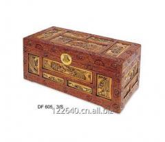 ANTIQUE DECORATIVE DISPLAY WOOD STORAGE BOX