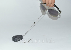 Anti-Theft Pull Box, Security Retractor, Anti-Lost Recoiler, size: 50 * 33 mm, thickness: 16 mm, ABS housing + Stainless steel