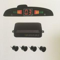Parking sensors LED display with human voice or