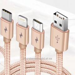 PINGAO PGX-SHE 3 in 1 Charging Data Cable USB