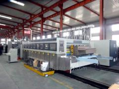 Automatic flexo printer slotter (die cutter) folder gluer machine