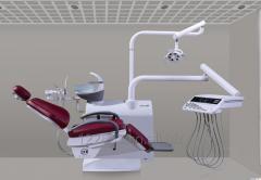 Folded dental chair, foldable leg rest design make