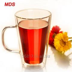 Glassware insulated tea cup double wall layer glass milk cup for coffee