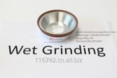 11V9 Resin Bond Diamond Grinding Wheel for carbide tools WET and DRY made in china miya AT moresuperhard.com